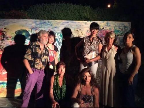 Tanja con Mariagrazia Cucinotta, Dimitri Salonia e Lidia Monachino, Carmen Crisafulli e altri artisti