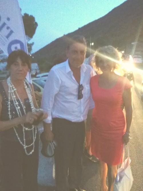 Tanja con Sergio Castellitto e Lidia Monachino